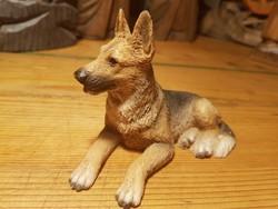 Jelzett régi németjuhász kutya szobor 13cm-es