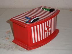 Régebbi fa fiókos doboz, hajósdoboz