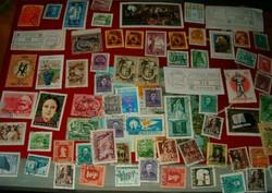 70 darab magyar bélyeg lot régiek újak vegyesen felülnyomott képesek stb KIÁRUSÍTÁS 1 forintról