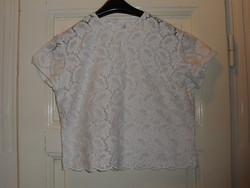 Vintage fehér madeira női blúz, felső ( 44-es )