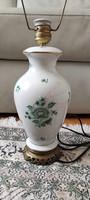 Herendi porcelán làmpa,nagy méretű, Zöld viràgmintàs