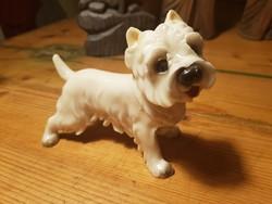 West highland white terrier kutya szobor 13cm-es