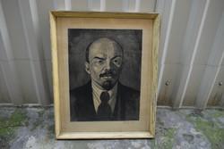 Ék Sándor (1902-1975): Lenin portré grafika