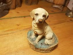 Kutya szobor 13cm-es mozgásérzékelős