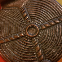 Iparművész réz medál, 5  cm-es