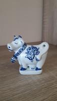 Zsolnay art deco kék tehén.