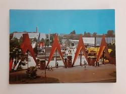 Retro képeslap Szeged Ipari Vásár