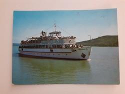 Retro képeslap 1986 Balaton MHRT Beloiannisz hajó