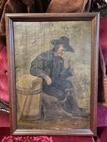 Ismeretlen festő: Férfi pipával