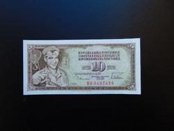 10 dinár 1978 Jugoszlávia Szép ropogós bankjegy  01