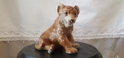 Lippelsdorfi , Germany jelzésű porcelán oroszlánkölyök.