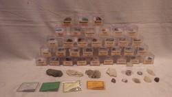Cca 50 db-ból álló ásvány gyűjtemény
