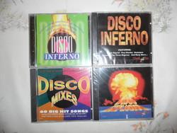 DISCO zene CD ( 4 db., Új )