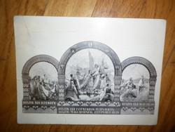 Irredenta képeslap levelezőlap hiszek egy istenben hiszek egy hazában