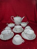 Eschenbach bavaria német porcelán három személyes teáskészlet.