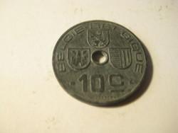 Belgium  10 cantimes  1943  . zink