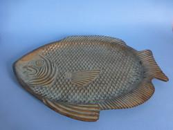 Hal alakú sárgaréz tál