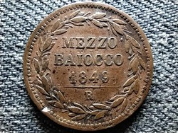 Pápai állam IX. Pius 1/2 baiocco Anno IIII 1849 R (id42506)