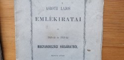 Asbóth Lajos emlékiratai 1862 eredeti kiadás 2 köteteben a 1848-as szabadságharcról