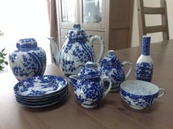 Régi kínai porcelán készlet, hiányos!