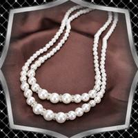 Ékszerek-nyakláncok: Esküvői, menyasszonyi, alkalmi két soros, ES-L01e