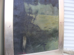 Magyar festő Tájkép 1935 olaj-vászon