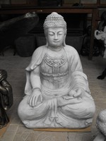 Ritka Gyógyító Thai földi Kő Buddha  70cm Feng shui Japán kerti Fagyálló műkő szobor