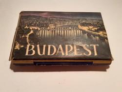 Régi dohányos doboz Budapest cigis dohányáru csomagolás