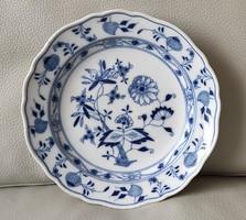 Kardos, Meissen, hagyma mintàs kobalt kék színű, Antik Kristen porcelán tàl,tànyér.