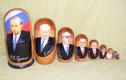 Matrjoska baba orosz elnökök