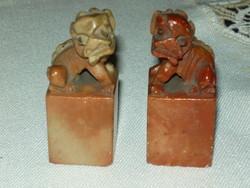 Antik kínai zsírkő szoborpár