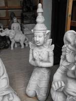 Ritka Szép Thai földi Kő Namaste  Buddha  80cm Feng shui Japán kerti Fagyálló műkő szobor