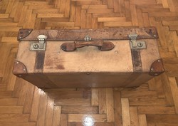 Antik bőr bőrönd utazóbőrönd koffer