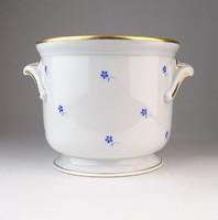 0P850 Herendi kék virág mintás porcelán kaspó