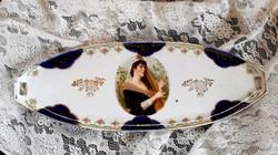 Antik porcelán tálca