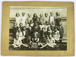 0K582 Antik iskolai osztálykép fotográfia 1932