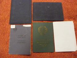 Szovjet-orosz iratok, papírok 1950-es évek