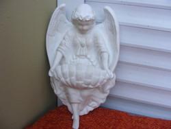 Szenteltvíztartó angyalkás porcelán XXsz.