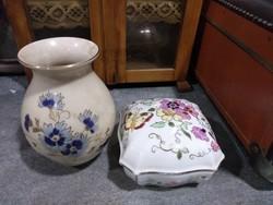 Zsolnay bonbonier és váza