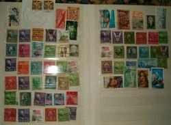 Kb 70 darab USA bélyeg lot régiek újak vegyesen régiek és képesek stb KIÁRUSÍTÁS 1 forintról