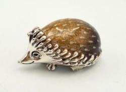 Új ezüst zománcos sün 925-ös 53 g