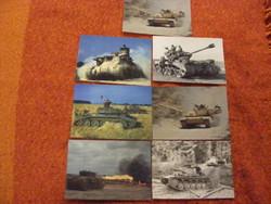 Harckocsi,tank képeslap 7db