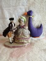 21162B3 Lippelsdorf porcelán barokk pár