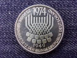 Németország 25 éves az Alaptörvény .625 ezüst 5 Márka 1974 F (id14418)