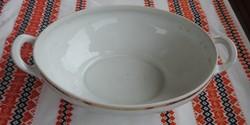 Antik  Altwasser fehér aranyszélű leveses tál