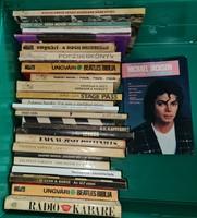 Zenei témájú könyvek 25 db