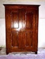 L 200 éves eredeti darabokra szétszedhető biedermeier szekrény ritkaság