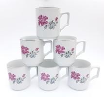 6 db régi rózsás kínai bögre - porcelán csésze egyben