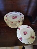 Ilmenau német tányérok 8 db lapos, 1 db süteményes tányér együtt