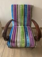 Igényesen felújított art deco fotel